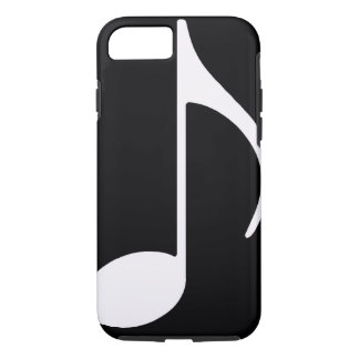 musical note / black iPhone 7 case