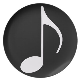 musical note ~ black plate