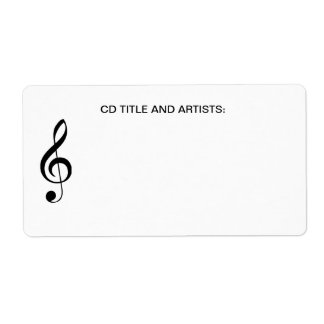 Musical Note CD Music Title and Artist Organizer Shipping Label