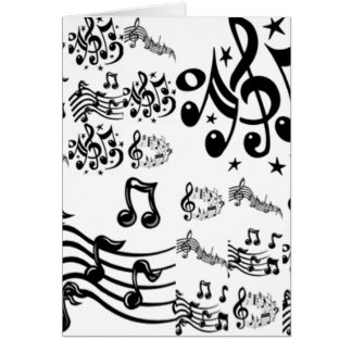 Musical Note Collage Card