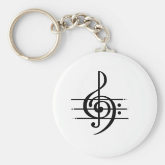 Musical Note Design Keychain