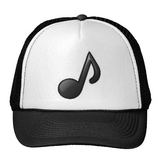 Musical Note Mesh Hats