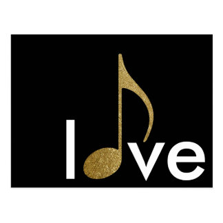 musical-note love-word postcard
