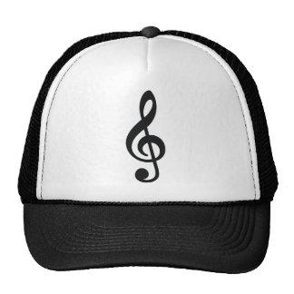 musical note note treble key trucker hat