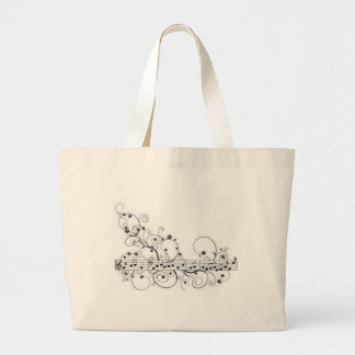 Musical Note Pattern Large Tote Bag