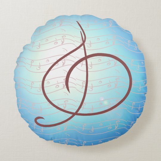Musical Note Pillows Blue Music Musicians Gifts