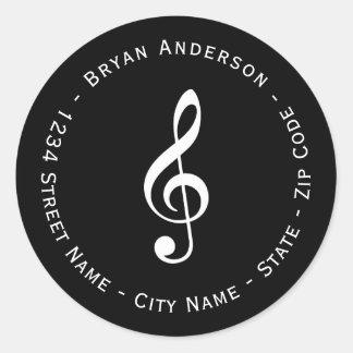 Musical Note Return Address Label