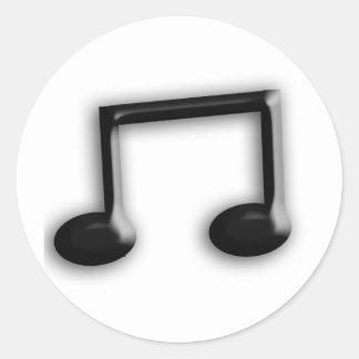 Musical Note Round Sticker