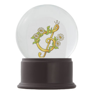 Musical note snow globe
