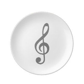 Musical note - strips - black and white. plate