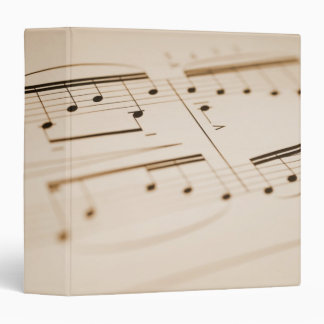 Musical Notes 2 3 Ring Binders