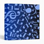 Musical Notes 2 (Blue) Vinyl Binder