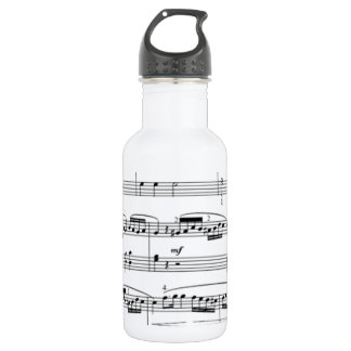 musical notes 532 ml water bottle
