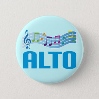 Musical Notes Alto Singer Choir Gift 2 Inch Round Button