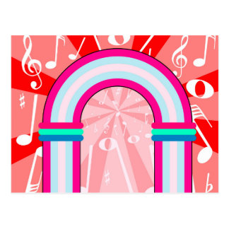 Musical Notes Archway Postcard
