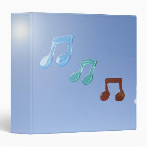 Musical Notes 3 Ring Binder