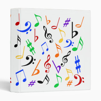 Musical Notes Binder - Multi