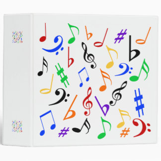 Musical Notes Binder - Multicolored