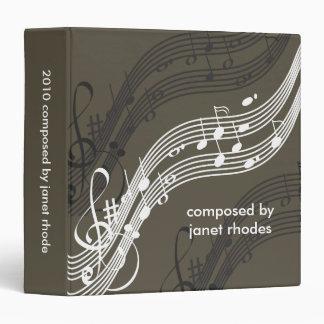 Musical notes binders, Christmas Gift Vinyl Binder