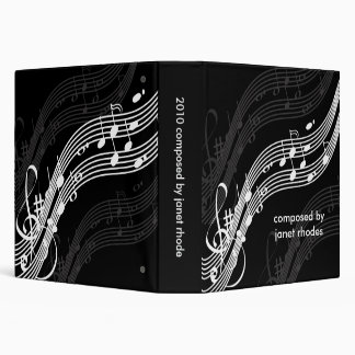 Musical notes binders, DIY color+fonts Vinyl Binder