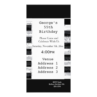 Musical Notes Birthday Personalized Photo Card