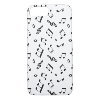 Musical Notes Black and White iPhone 8/7 Case