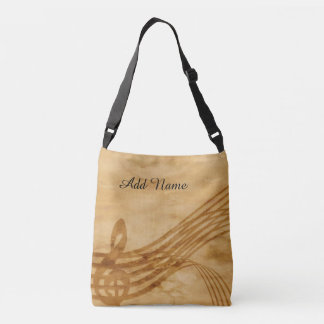 Musical Notes Brown Weathered Bag