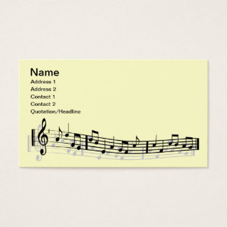 Musical notes business card