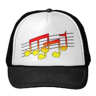musical notes cap trucker hat