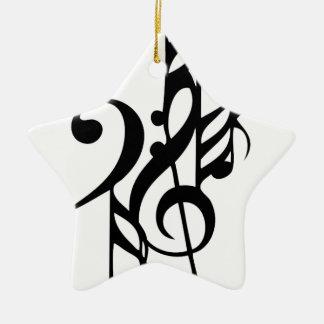Musical_notes Ceramic Ornament