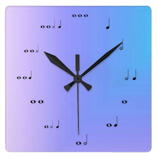 Musical Notes Clock Clocks