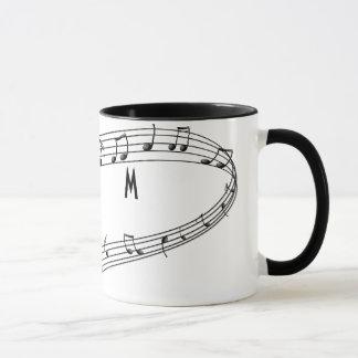 Musical Notes Coffee Mug with Monogram