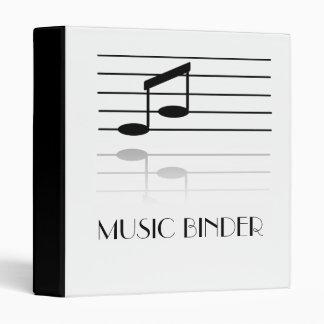 Musical Notes Custom Binder