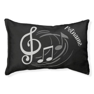 Musical Notes custom name dog beds