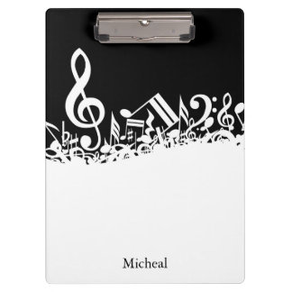 Musical Notes Customizable Clipboard
