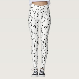 Musical Notes Customizable Color Leggings