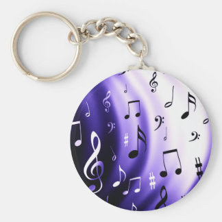 Musical Notes Design Keychain