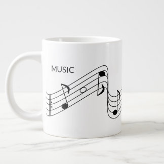 Musical Notes for Music Teacher Large Coffee Mug