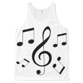 Musical_Notes_Full_Print_Tank_Top All-Over-Print Tank Top