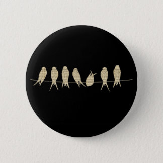 Musical Notes Group of Birds 2 Inch Round Button