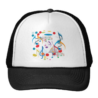 Musical Notes Mesh Hat