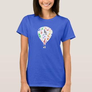 Musical Notes Hot Air Balloon T-Shirt - Women's