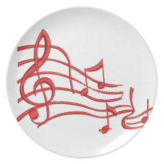 musical notes - imitation of embroidery plate