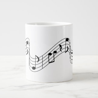 Musical Notes Large Coffee Mug