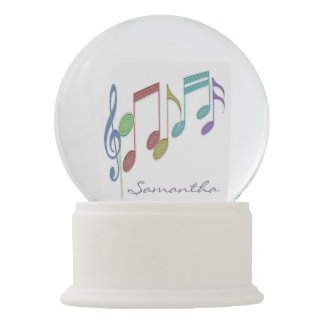 Musical Notes Linear Multicolor Custom Snow Globe