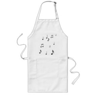Musical Notes Long Apron
