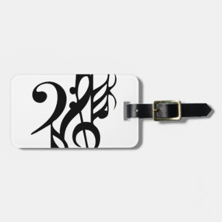 Musical_notes Luggage Tag