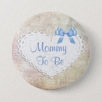 Musical Notes Lullaby Mommy to be Baby Shower 3 Inch Round Button