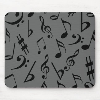 Musical Notes Mousepad - Silver