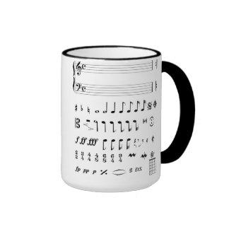 Musical Notes Mug. Ringer Mug